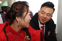 Chinese couple meet before wedding on high-speed train