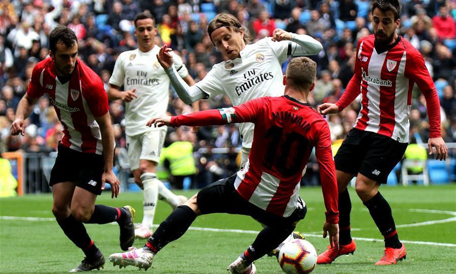 Spanish league: Real Madrid beats Athletic Club Bilbao 3-0