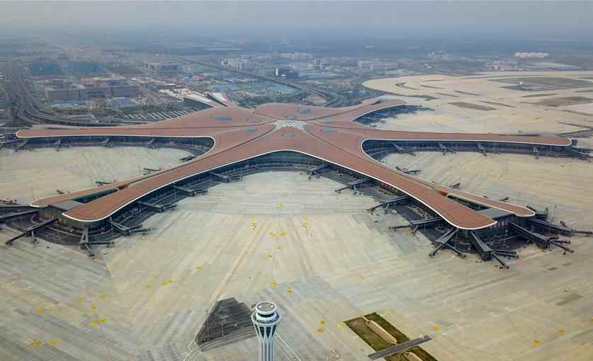 West control tower of Daxing Int'l Airport put into use
